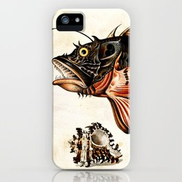 Deep sea fish, crabs and sea snails iPhone Case