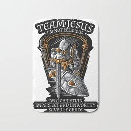 Knight Templar Crusader Shirt - I'm on Team Jesus Bath Mat
