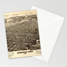 Bird's Eye View of Leadville, Colorado (1882) Stationery Cards