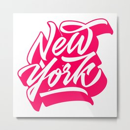 New York City original lettering Metal Print