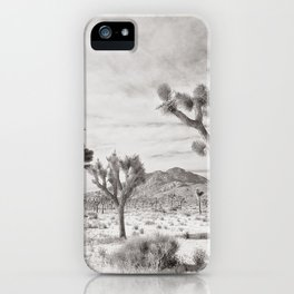 Joshua Tree Grey By CREYES iPhone Case