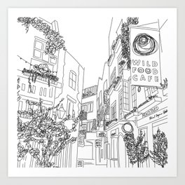 Neal's Yard in London, U.K. Art Print