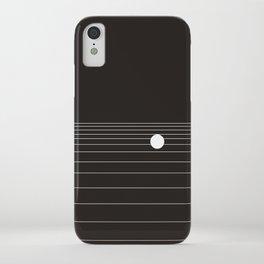 Calm water Lake Moon Minimal iPhone Case