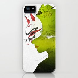 Fox Mask _side face iPhone Case