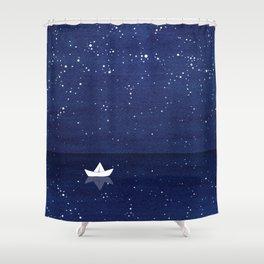 Zen sailing, ocean, stars Shower Curtain