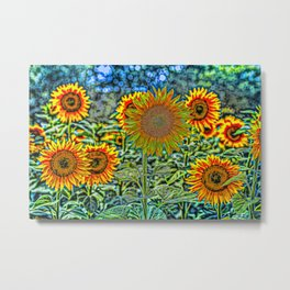 Sunflowers Of Dreams Metal Print