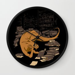 The Book Wyrm Wall Clock