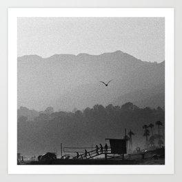 california beach dreamin Art Print