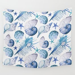 Sea Life Pattern 07 Wall Tapestry