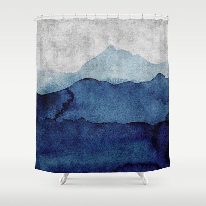 Water Color Landscape Shower Curtain