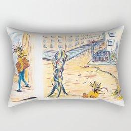 X voYages de Zed (toile 2 série 1) Rectangular Pillow
