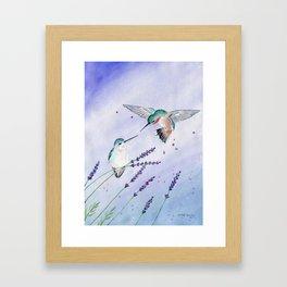 Hummingbird Romance Framed Art Print