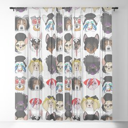 Pop Dogs Sheer Curtain