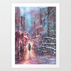 Take a walk Art Print