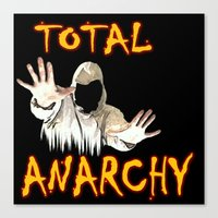 anarchy Canvas Prints featuring ANARCHY  by Robleedesigns