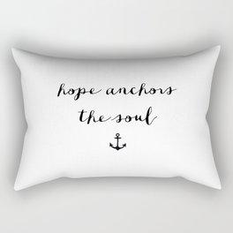 HOPE ANCHORS - B & W Rectangular Pillow