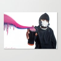graffiti Canvas Prints featuring Graffiti by Fahrudin