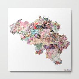 Belgium map Metal Print