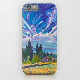 Lupine Views of Lake Superior iPhone Case