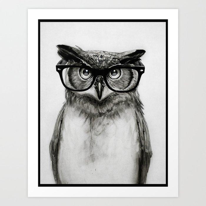Mr. Owl Kunstdrucke