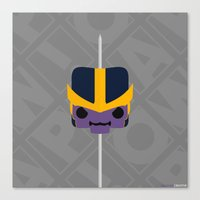 thanos Canvas Prints featuring Marshmallow Thanos by Oblivion Creative