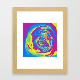 Multicolored swirl Framed Art Print