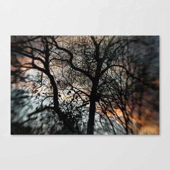 Bleak Winter Sunset Canvas Print