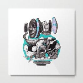 blue company Metal Print
