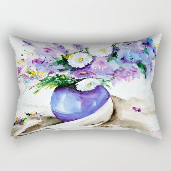 bouquet of flowers Rectangular Pillow