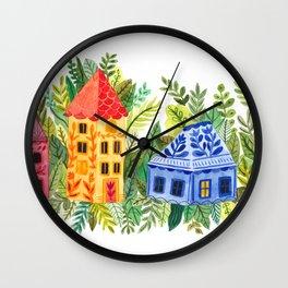 Botanical Street Wall Clock