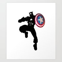 captain Art Prints featuring Captain by Crayle Vanest