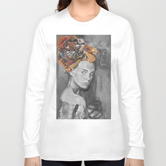 Dame black and white  Long Sleeve T-shirt