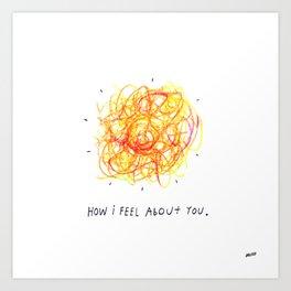 Feelings Ball Art Print