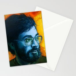 Asian Dude with Glasses Stationery Cards