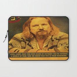 The Big Lebowski, The dude, Retro movie poster Laptop Sleeve