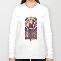 bad wolf Long Sleeve T-shirts featuring Bad Wolf by Megan Lara