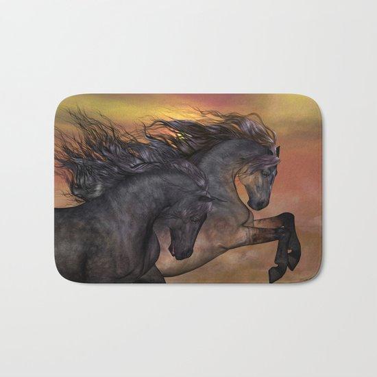 HORSES - On sugar mountain Bath Mat