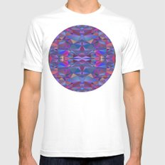 Colorful MEDIUM Mens Fitted Tee White
