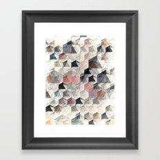 as the curtain falls (variant) Framed Art Print