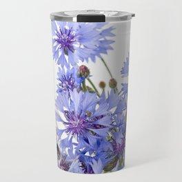 Cornflower and chamomile many flowers Travel Mug