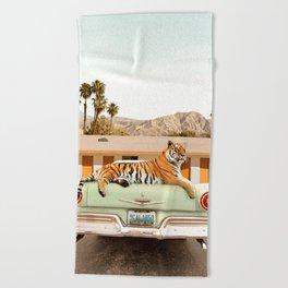 Tiger Motel Beach Towel