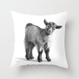 Goat baby G097 Throw Pillow