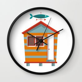 Beach Hut Number Two Wall Clock