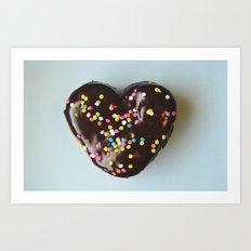 Sweet Heart - Doughnut Photograph 2 Art Print