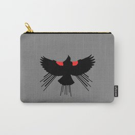 Red Winged Blackbird Grey Background  Carry-All Pouch