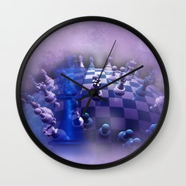 chess over the world Wall Clock