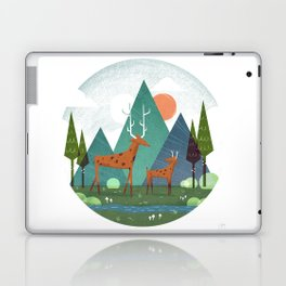 Deer and son Laptop & iPad Skin