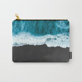 Aerial Photography of Sea Wave Carry-All Pouch