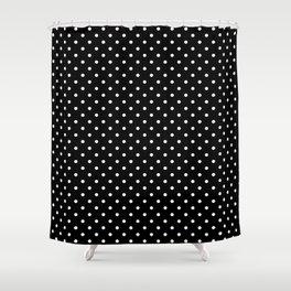 Dots (White/Black) Shower Curtain