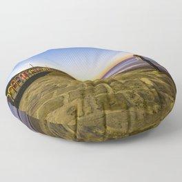 Saltburn in the evening light Floor Pillow